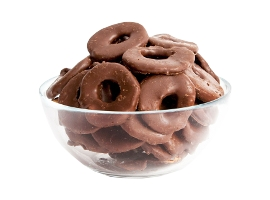 Dried chocolate glazed